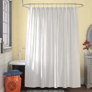 microban microfiber fabric single shower curtain liner