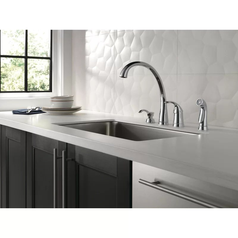 pilar single handle kitchen faucet with side spray