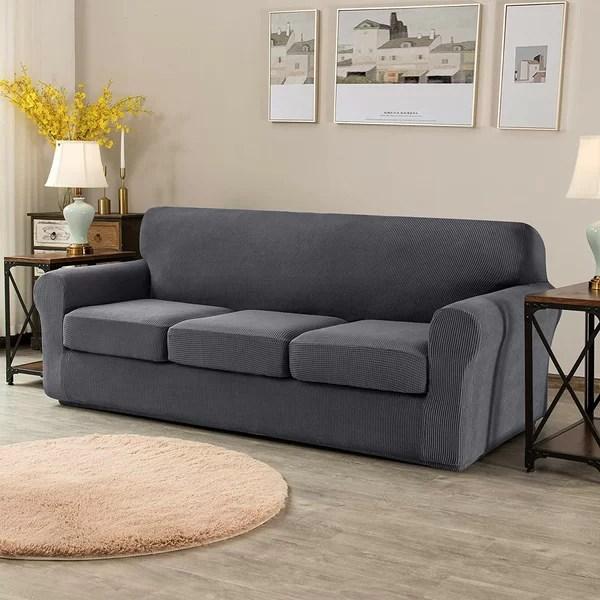 navy blue sofa slipcover