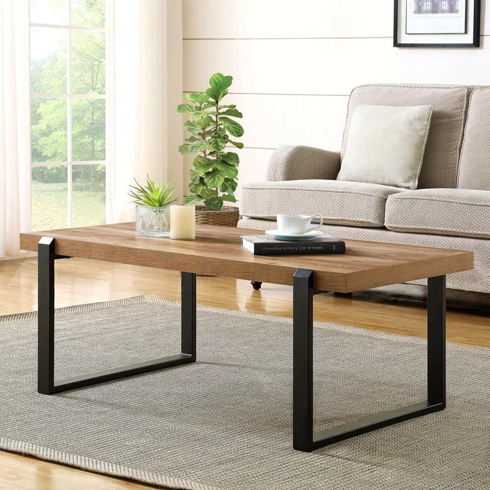 17 stories clarkson industrial cocktail rustic coffee table reviews wayfair