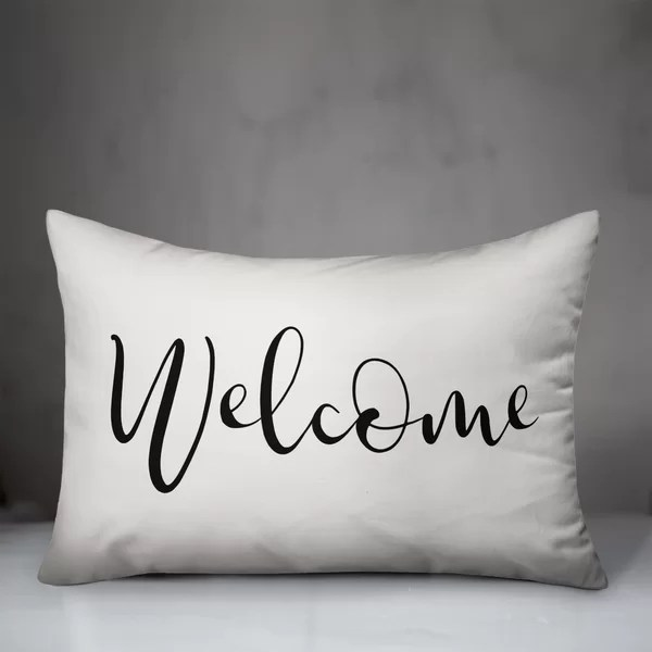 welcome outdoor pillow