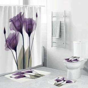 dajana 4 piece shower curtain set