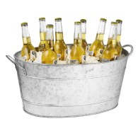710 Oz. Galvanized Steel Beverage Tub