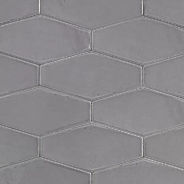 gray beveled subway tile