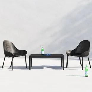 farrah plastic 2 person seating group