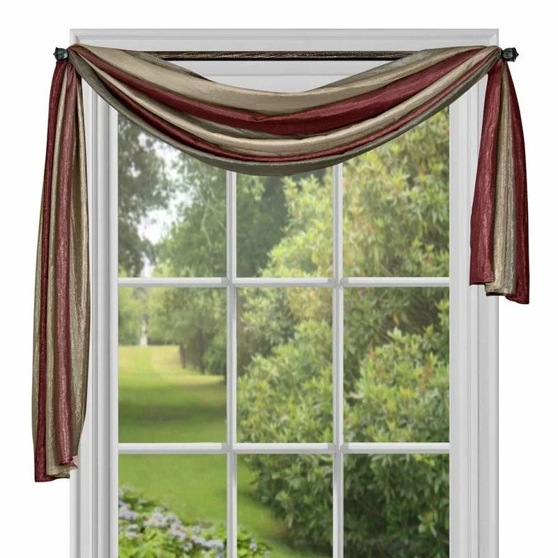 reasor striped semi sheer window scarf