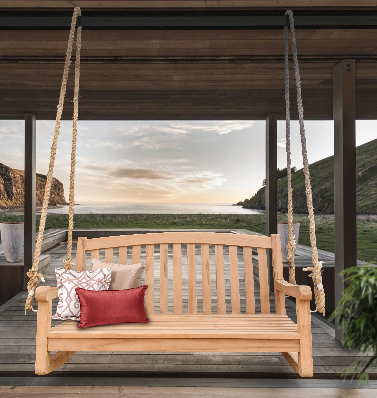 monette san jose double outdoor teak porch swing