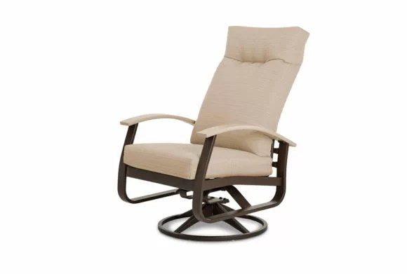 belle isle swivel patio chair with cushions