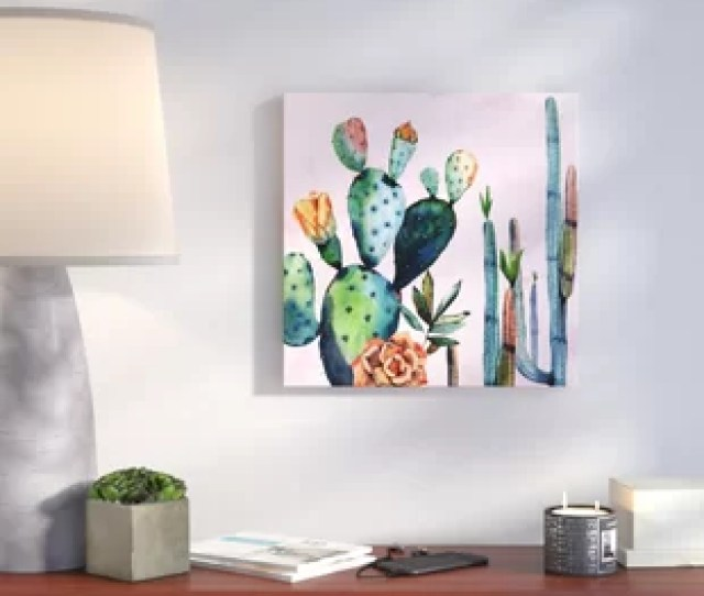 Watercolor Succulents Watercolor Painting Print On Canvas