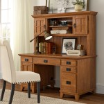 Three Posts Ferryhill Pedestal Computer Desk With Hutch Reviews Wayfair