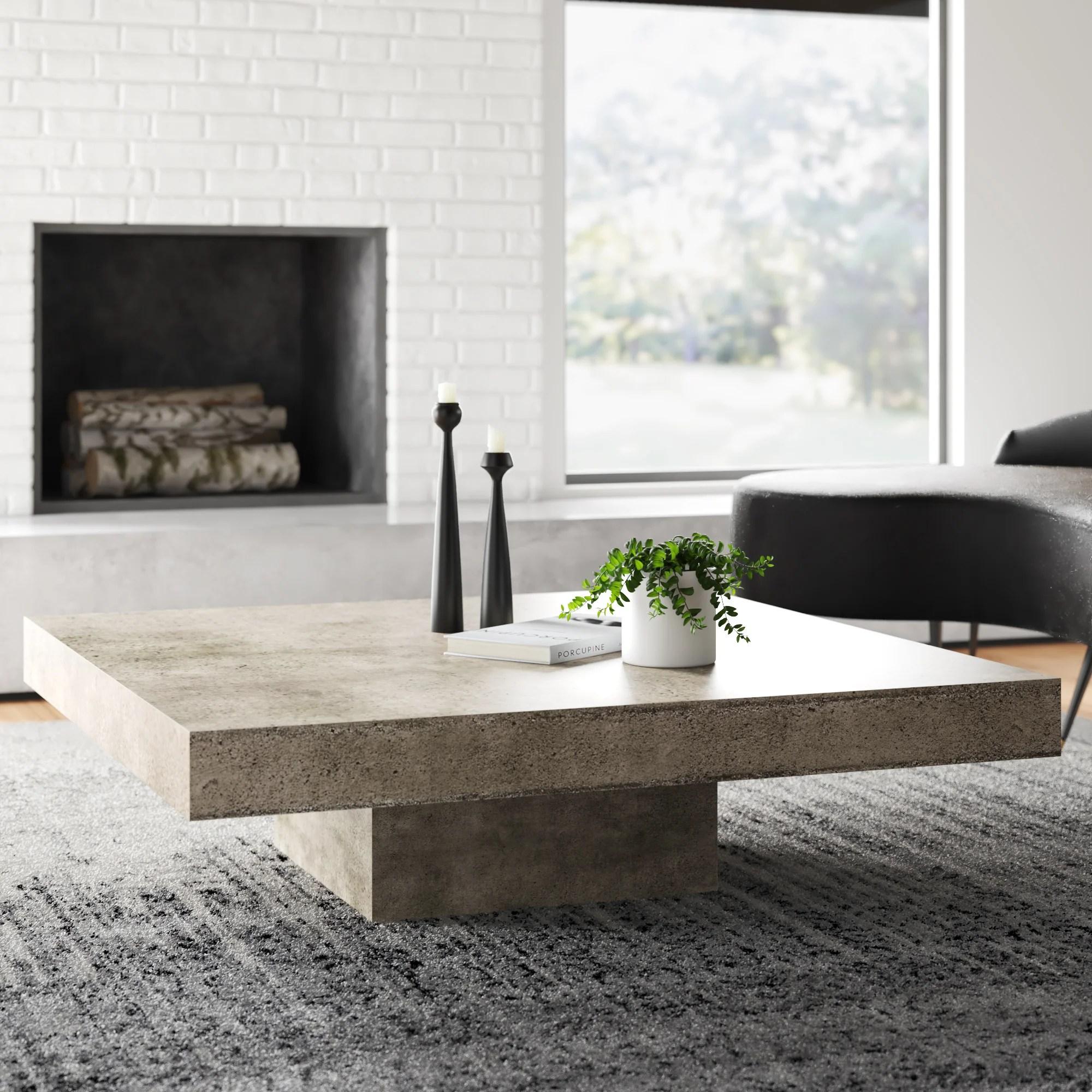 modern square coffee tables allmodern