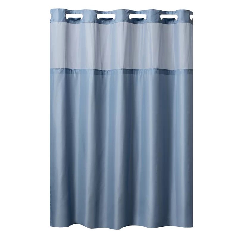 hookless mystery shower curtain