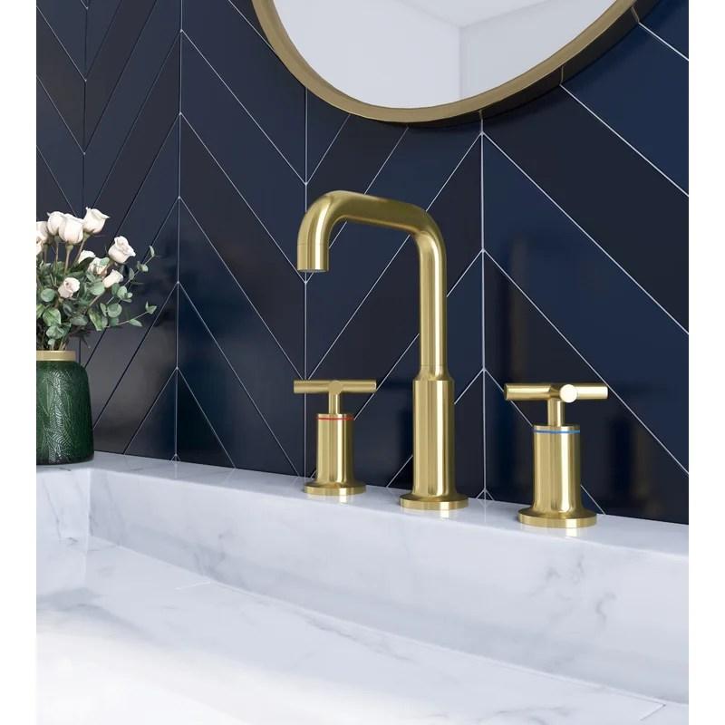 https www wayfair ca home improvement pdp rovogo widespread bathroom sink faucet 2 handles 3 holes modern commercial bathroom sink faucet brushed brass darv1004 html