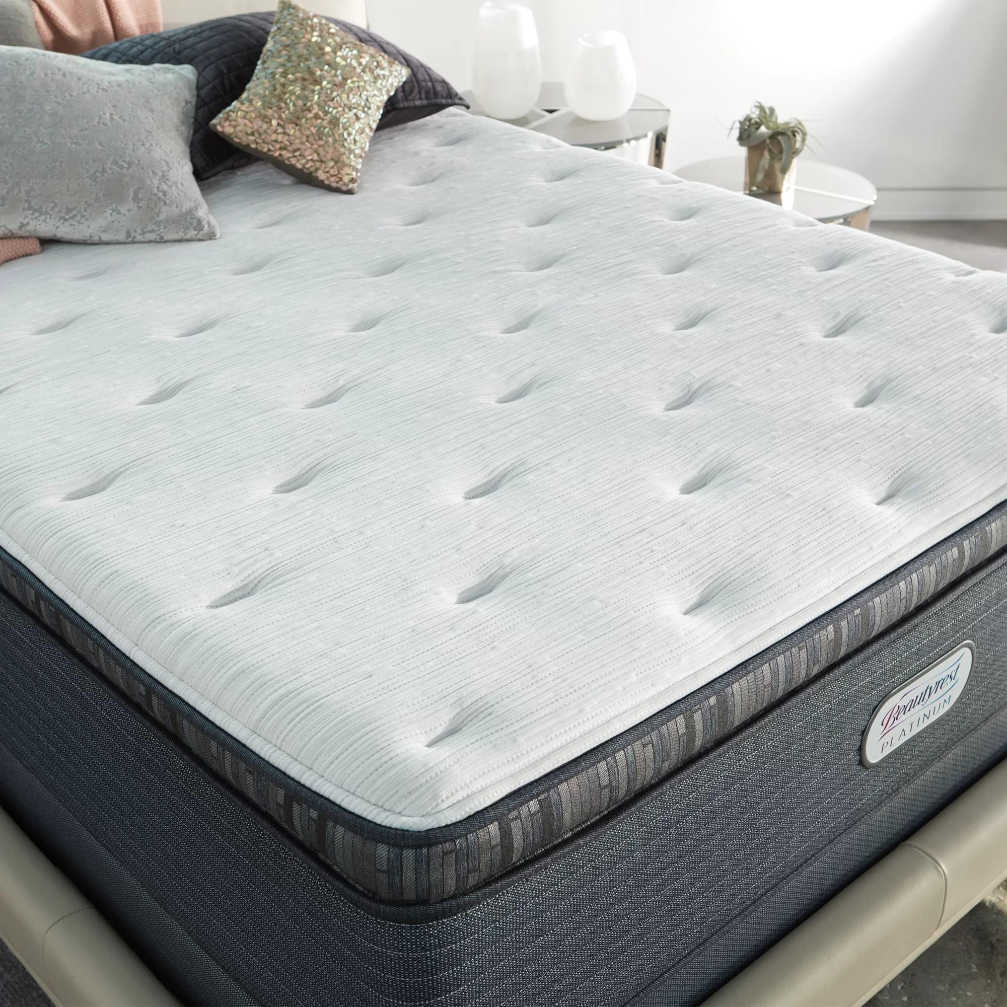 beautyrest platinum 15 firm pillow top hybrid mattress and box spring set reviews wayfair
