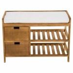 House Of Hampton Zeke 2 Tier Wooden Shoe Storage Bench Reviews Wayfair Co Uk