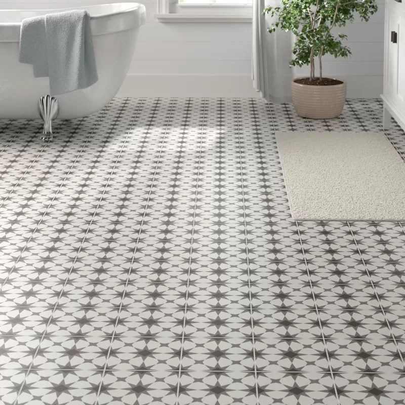 encausto 8 x 8 porcelain wall floor tile