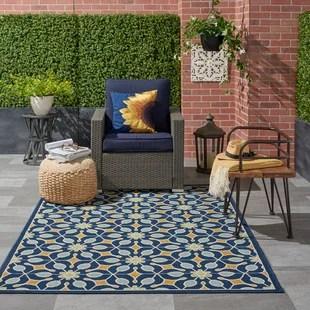 monterey geometric navy blue gold area rug