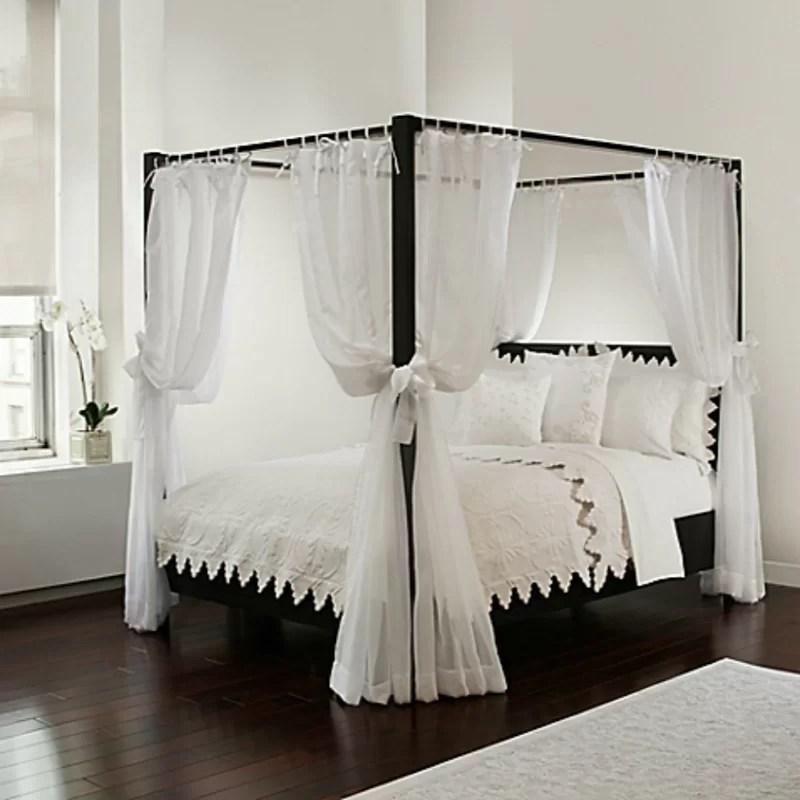 rideaux pour lit a baldaquin ahren