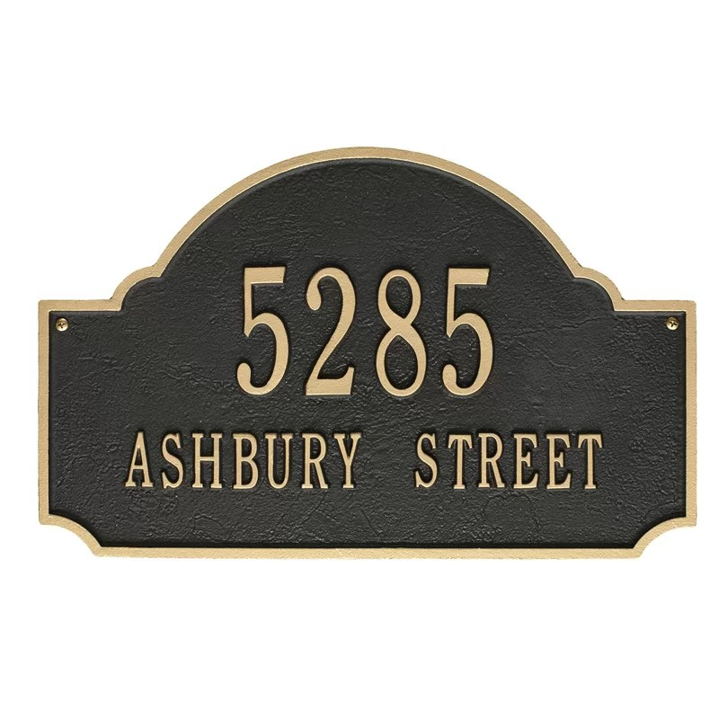 Address Signs For Homes Bronze