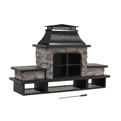 Outdoor Fireplaces & Fire Pits You'll Love in 2020 | Wayfair on Quillen Steel Outdoor Fireplace id=61336
