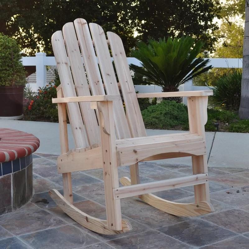Janes Solid Wood Rocking Adirondack Chair