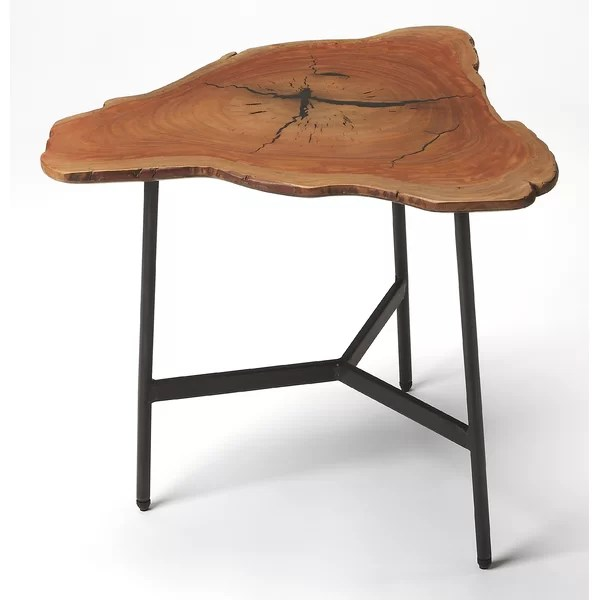 modern contemporary rustic side table