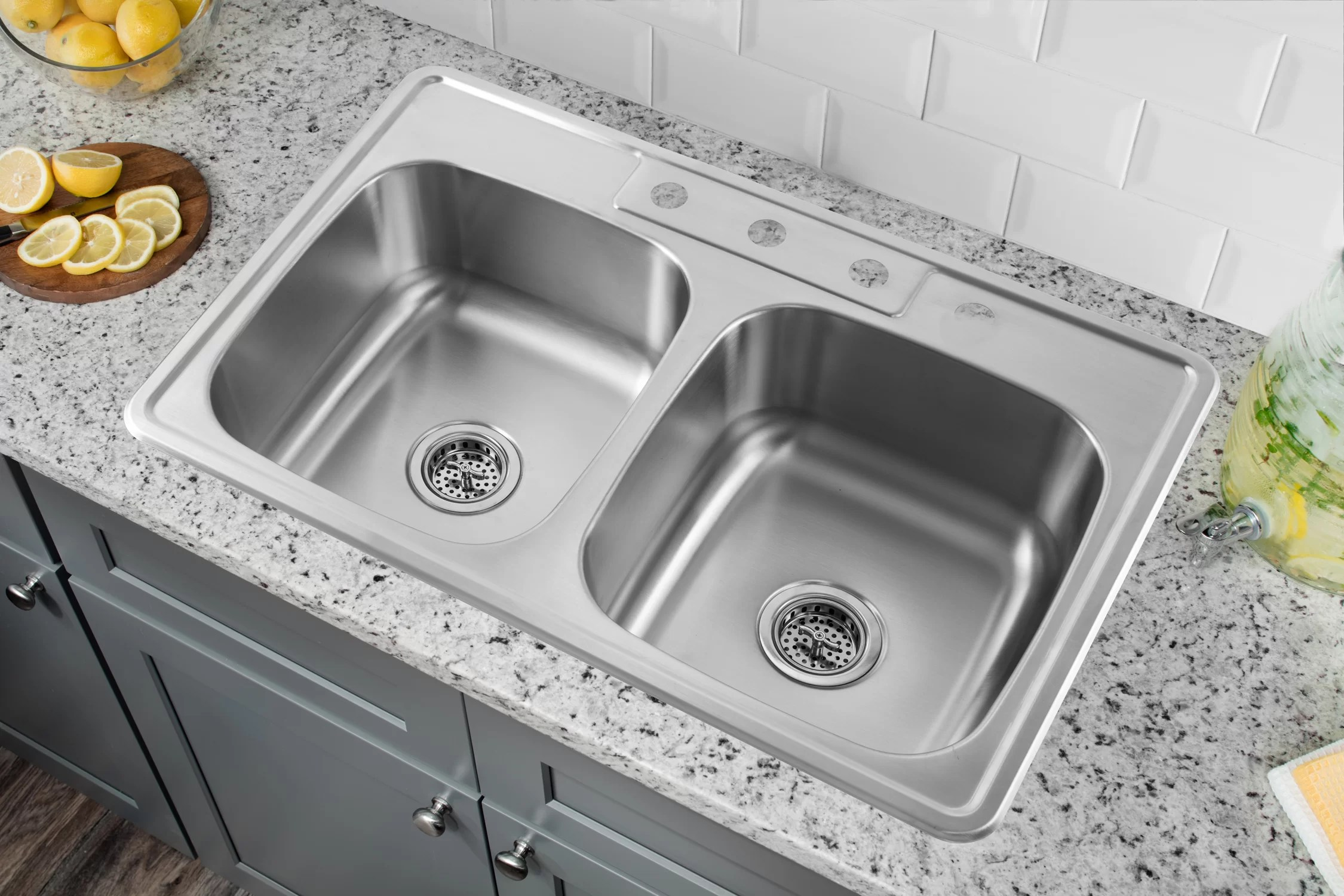 kitchen skins double bowl kitchen sinks stainless steel