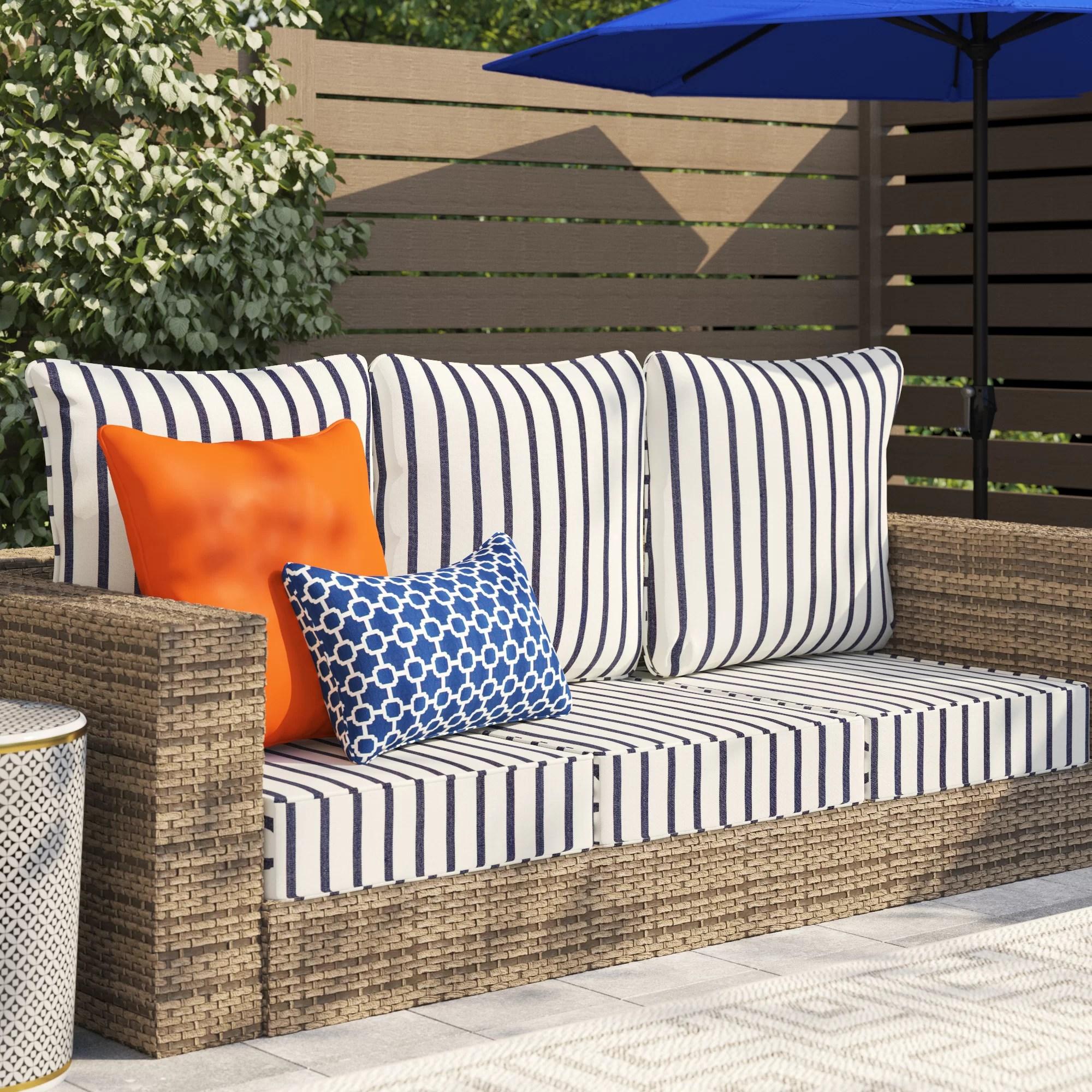 sarver indoor outdoor seat back cushion