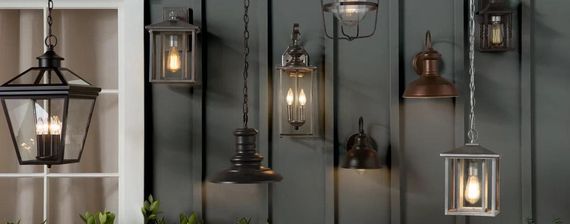 farmhouse rustic outdoor lighting