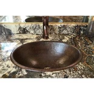 metal oval drop in bathroom sink