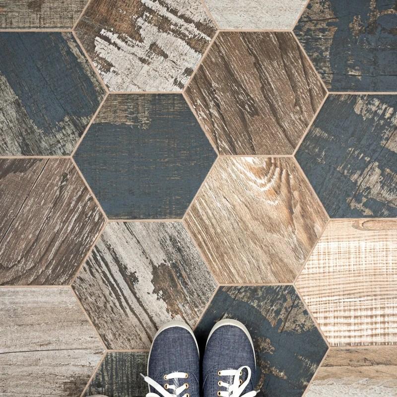 garde 9 x 10 porcelain wood look wall floor tile