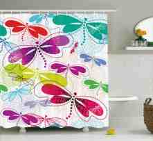 Lottie Art Vivid Dragonflies Shower Curtain Hooks