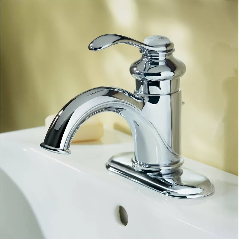fairfax single hole bathroom faucet with drain assembly