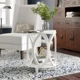 rustic white end side tables