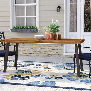 isidore wooden dining table