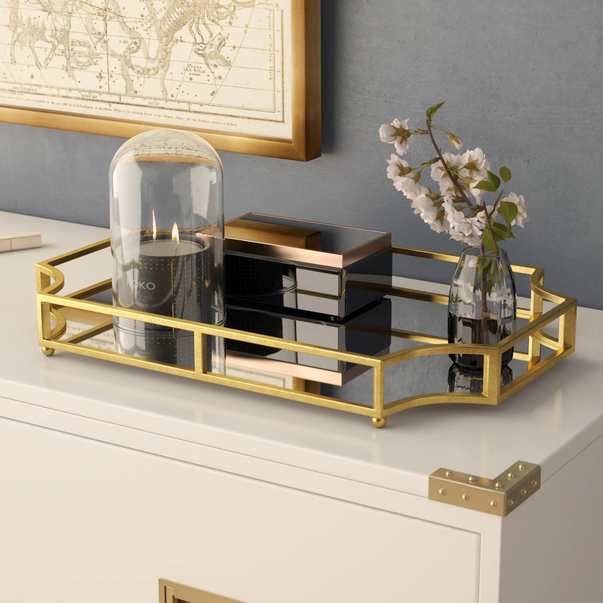 glass decorative trays free shipping