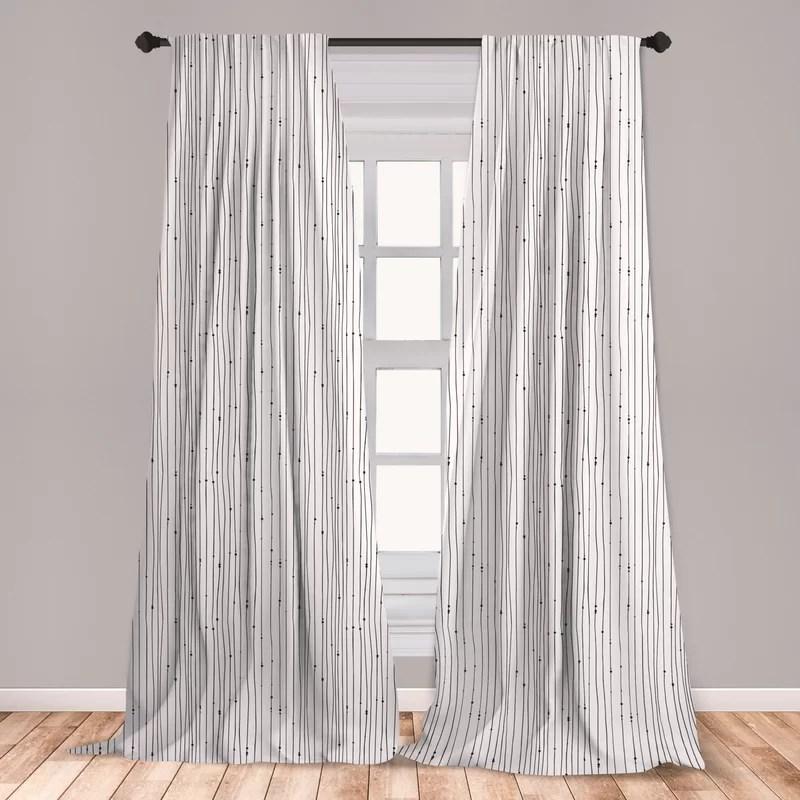 striped room darkening rod pocket curtain panels
