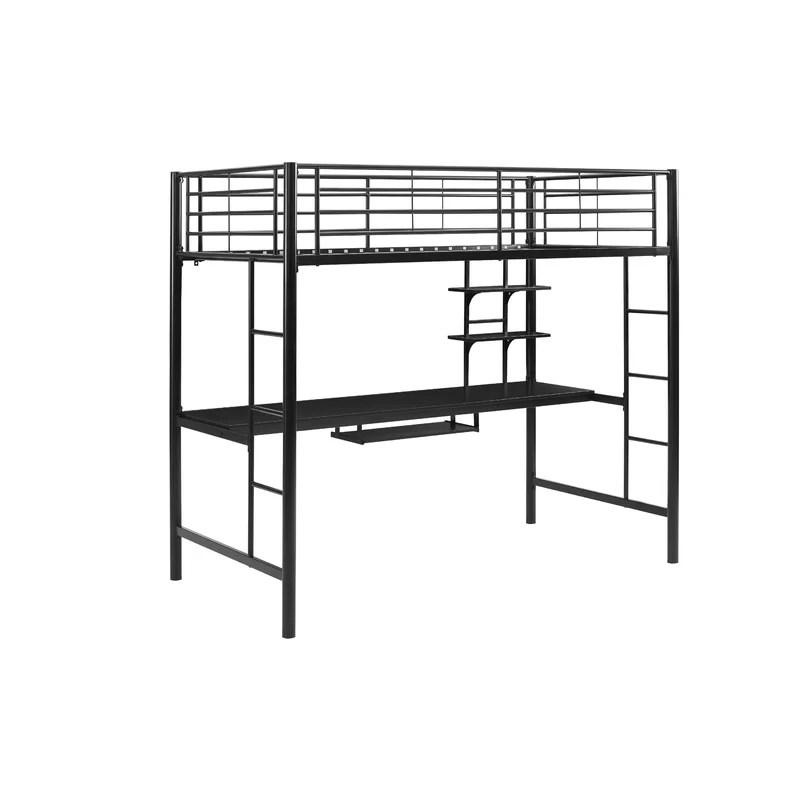 Asten Twin Loft Bed With Desk