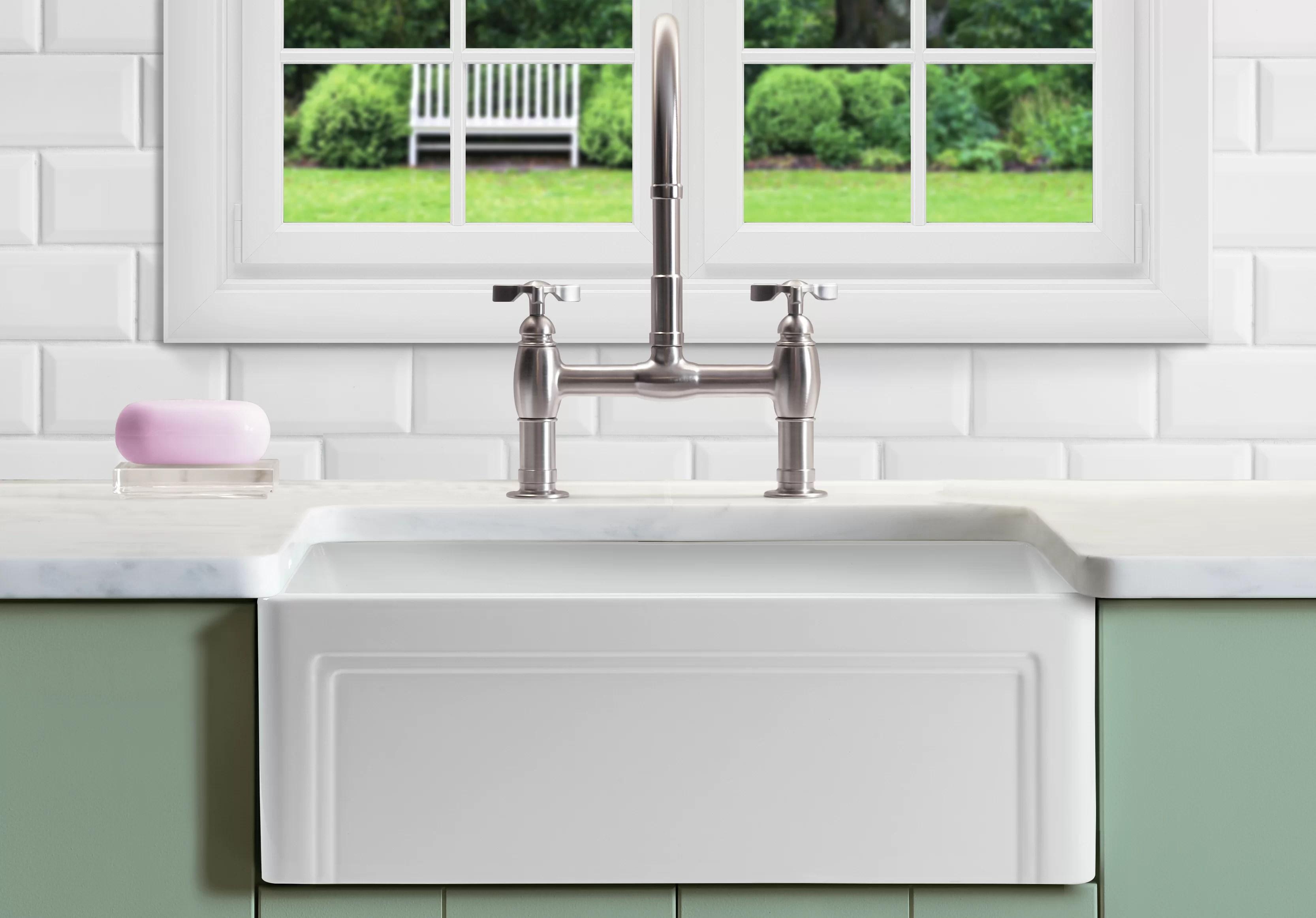 retta 27 l x 18 w farmhouse kitchen sink with sink grid and basket strainer