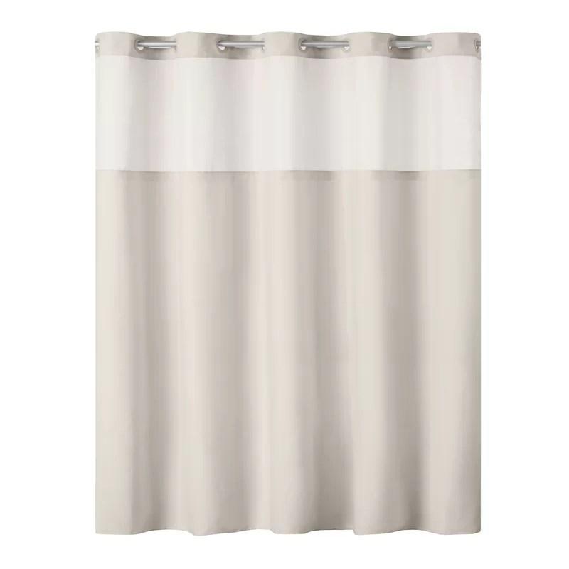 https www wayfair com bed bath pdp hookless antigo plain weave shower curtain with fabric liner white w002147583 html
