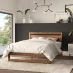 Mercury Row Ellerbe Mid Century Modern Low Profile Standard Bed Reviews Wayfair