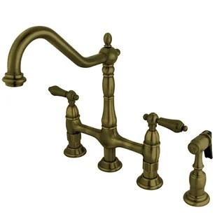 heritage bridge faucet with side spray