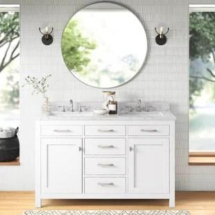 atencio 54 double bathroom vanity set