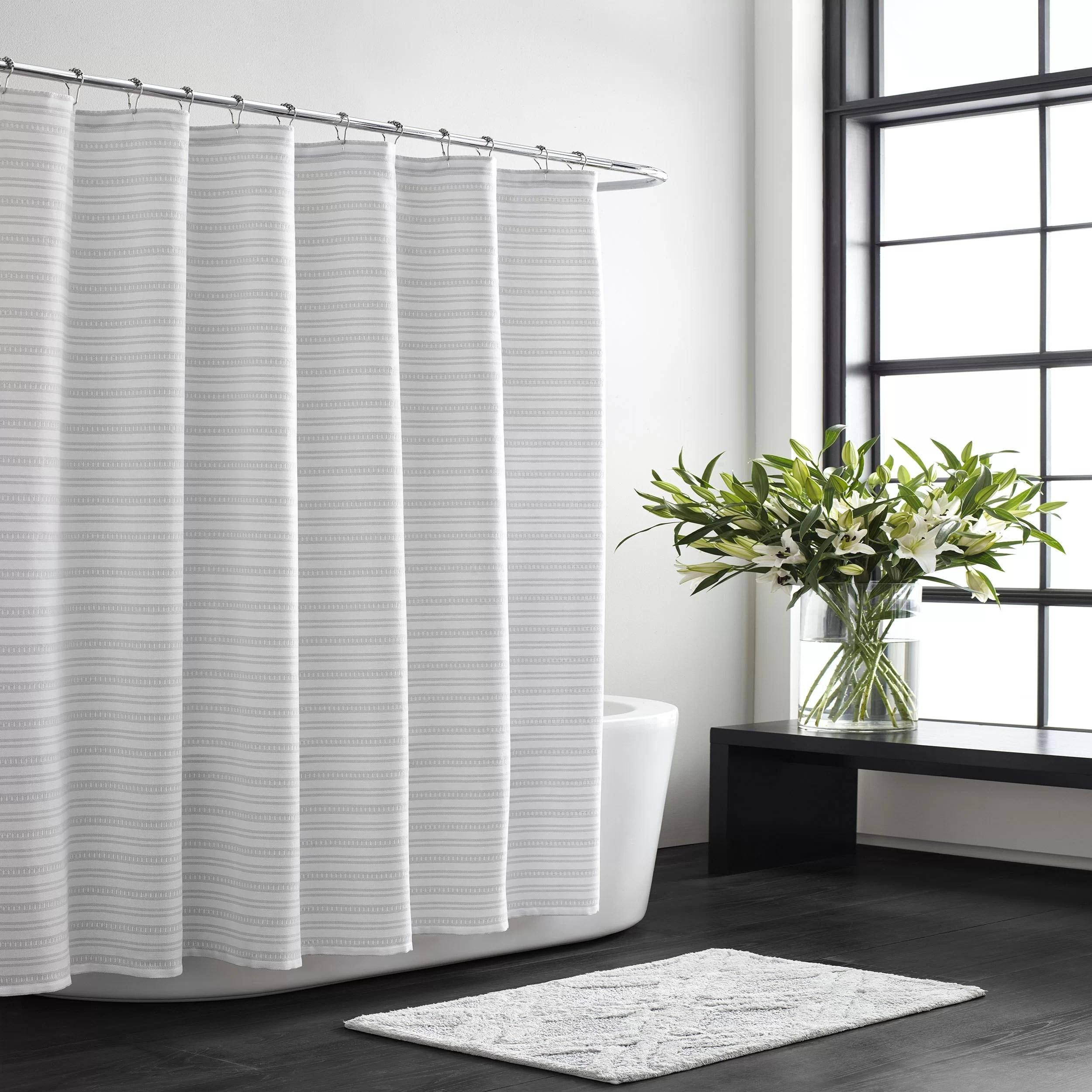 textured stripe single shower curtain