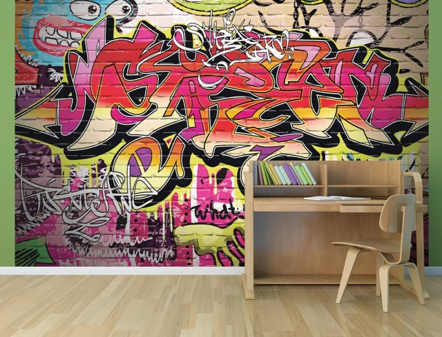City Graffiti Wall Mural