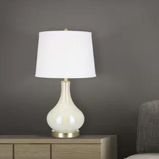 hackworth 25 white iridescent table lamp