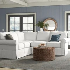 slipcovered sectionals you ll love in