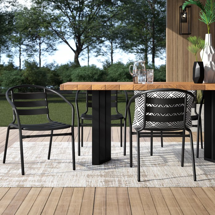 Mercury Row Corrales Stacking Patio Dining Chair Reviews Wayfair