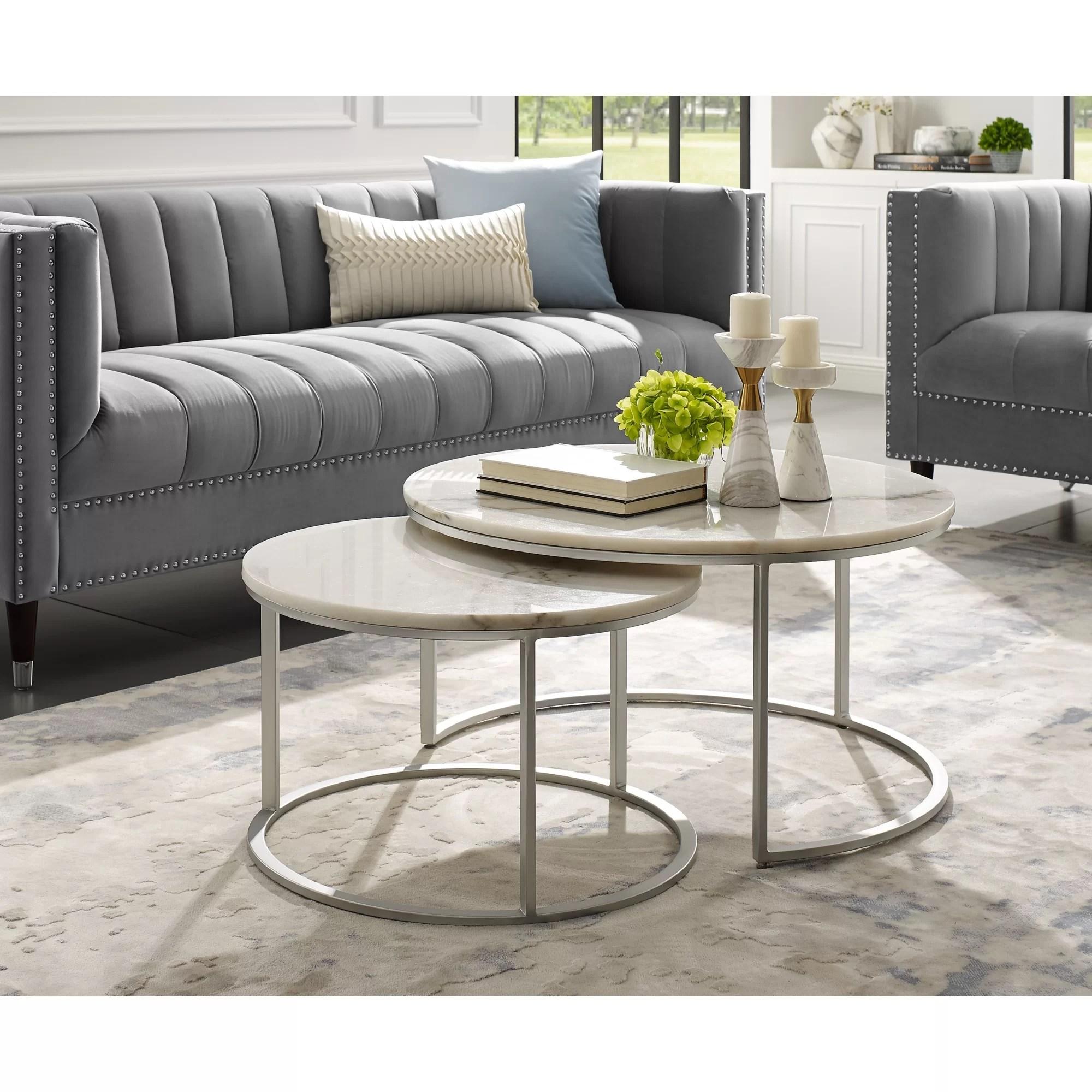 kayson round 2 piece coffee table set