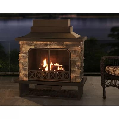 Outdoor Fireplaces You'll Love in 2020 | Wayfair on Quillen Steel Outdoor Fireplace id=21147